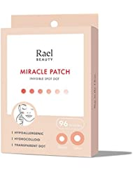 Rael Acne Pimple Healing Patch - Absorbing Cover, Invisible, Blemish Spot, Hydrocolloid, Skin Treatment, Facial Stickers, Two Sizes 10mm & 12mm, Blends in with skin (96 Count)