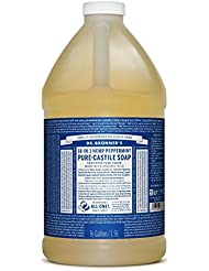 Dr. Bronner's Pure-Castile Liquid Soap - Peppermint 64oz.