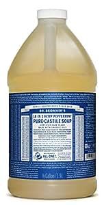 Dr. Bronner's Pure-Castile Liquid Soap - Peppermint 64oz.