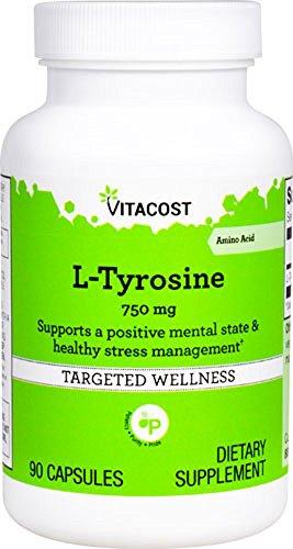 Vitacost L-Tyrosine -- 750 mg - 90 Capsules