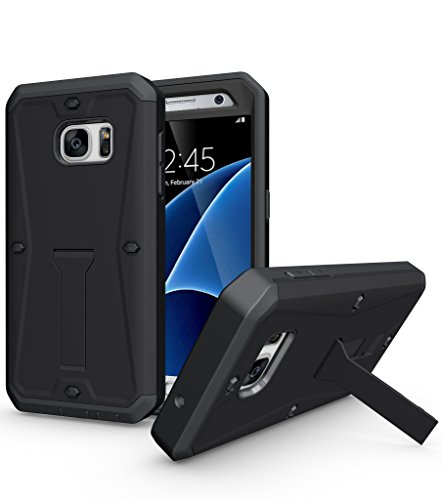 S7 Case,Galaxy S7 Case,DIOS CASE(TM) Heavy Duty Protection [Tank Armor] 3 in 1 Ultra Combat with Built-in Screen Protector Kickstand Bumper Military Defender Hard Cover for Samsung Galaxy S7 (Black) ()