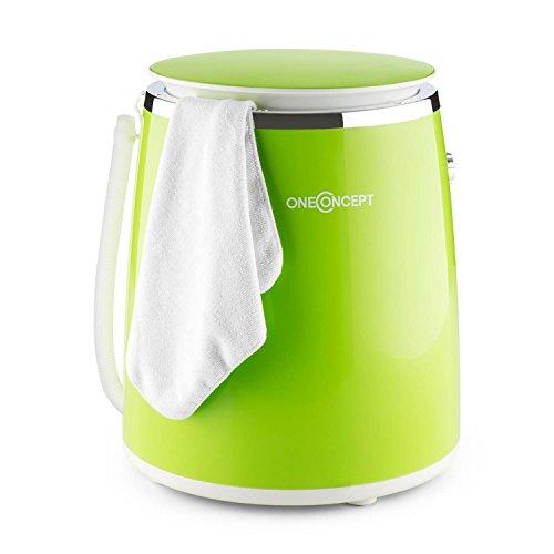 oneConcept Ecowash-Pico Camping Mini-Waschmaschine (Toploader, mit Schleuder-Funktion, für 3,5 kg Wäsche, 380W) grün