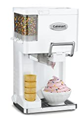 Professional-quality soft serve ice cream, yogurt, sorbet and sherbet is now available right at home, with the Cuisinart Mix It in Soft Serve Ice Cream Maker. Not only does it make everyone's favorites, but with three built-in condiment dispe...