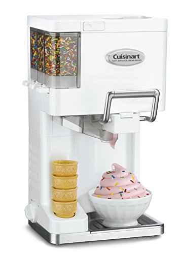 Cuisinart ICE-45 Mix It In Soft Serve 1-1/2-Quart Ice Cream Maker, White (Frozen Custard Machine)