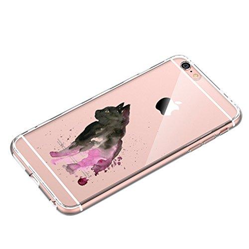Funda iPhone 6/6S Vanki® Silicona TPU Carcasa Transparente Soft Case Cover Funda Blanda Flexible Carcasa Delgado Caja Anti Rasguños Anti Choque con para iPhone 6/6S 6