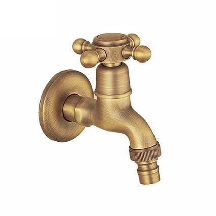 RSGK Grifo de Lavadora de Cobre para baño, de Estilo Europeo Antiguo, para Piscina