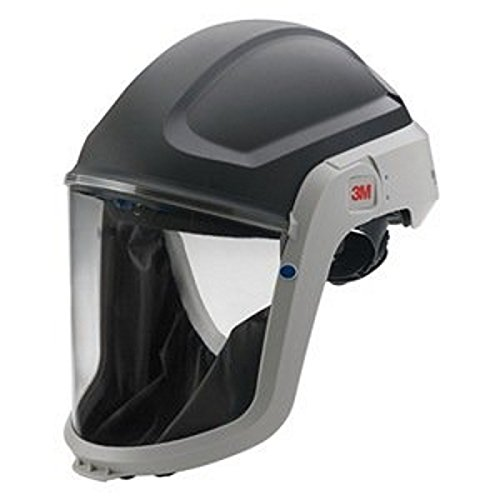 3M M-307 Polycarbonate Respiratory Hard Hat Assembly for Versaflo M-100, V Series and TR-300 Full Face Respirator with Premium Visor and Faceseal, Plastic, 9.8