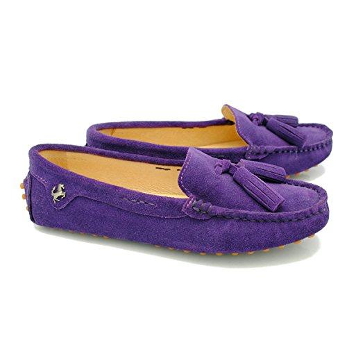 Minitoo Compensées clair femme Sandales violet 16xqxFaO8w