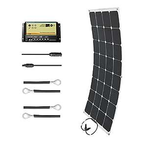 HQST 100 Watt 12 Volt Monocrystalline Solar Marine Kit