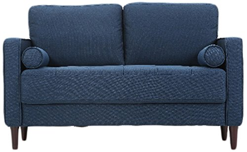 Lifestyle Solutions LK-LGFSP2GU3051 Lexington Loveseat, Navy Blue