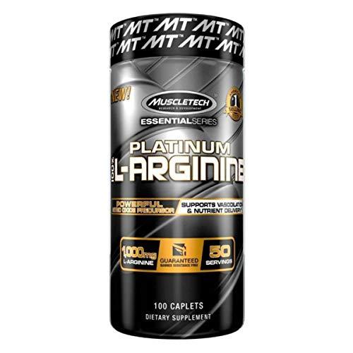 MuscleTech Essential Series 100%, L-Arginine, 100 Count