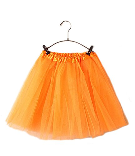 GGTFA Adulte Ballet Robe De Tulle Tutu Jupon Jupe De Danse Orange