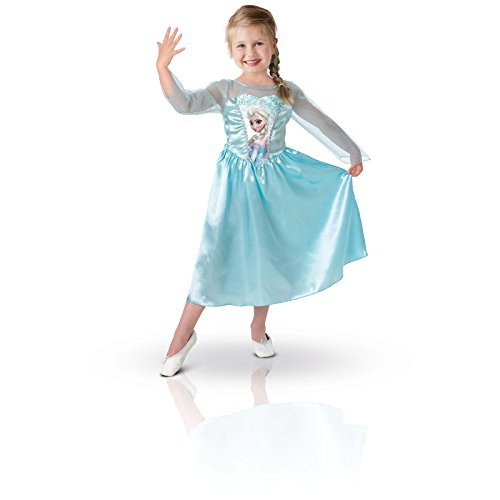 Frozen - Disfraz Elsa Classic con peluca, para niños, 5-6 años (Rubies 154984-M): Amazon.es: Juguetes y juegos
