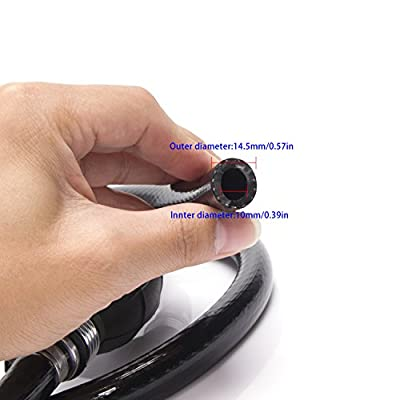 Smiful Fuel Line Assembly, Nylon Braided 3/8