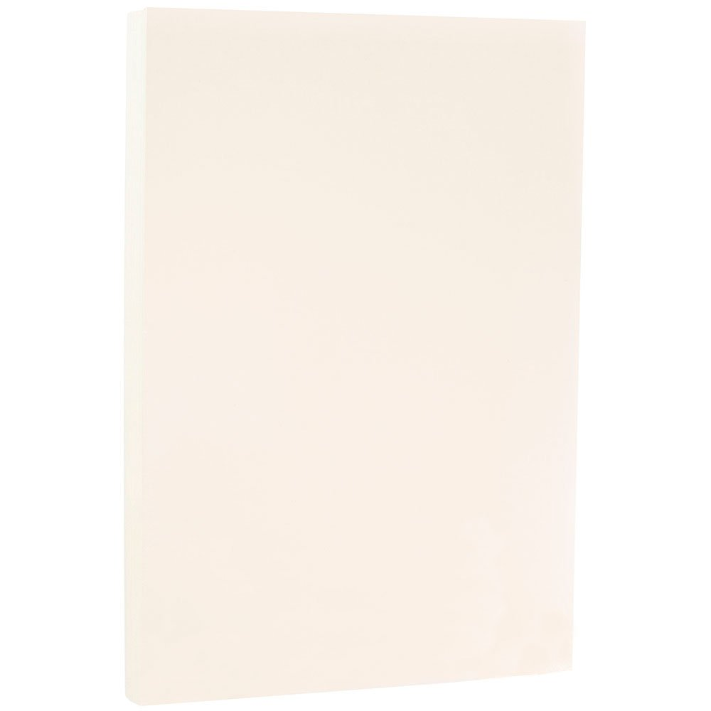 JAM PAPER Legal Strathmore 24lb Paper - 8.5 x 14 - Nautral White Wove - 100 Sheets/Ream