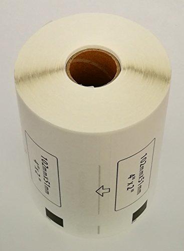 Compatible DK1240 DK-1240 Multi-Purpose Paper Labels (4 Rolls + 1 Reusable Cartridge) ()