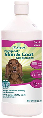 Excel Nutricoat Skin and Coat Liquid for Dogs, 32-Ounce Bottle ()