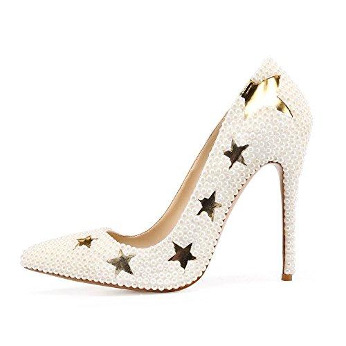 zapatos Nacré Blanc pour Joe Escarpins Femme Z1CYwZ7q