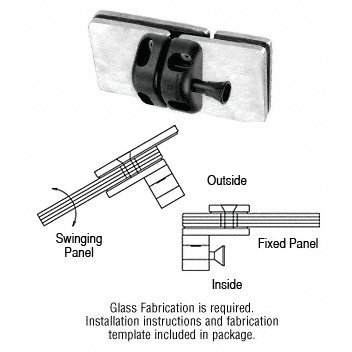 CRL Brushed Stainless 180 Degree Glass-to-Glass Gate Latch