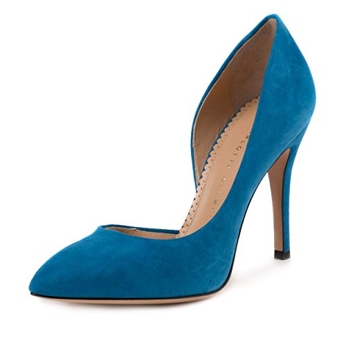 Charlotte Olympia Womens The Lady is a Vamp Cobalt Blue Pump Size 38 EU (8 US)