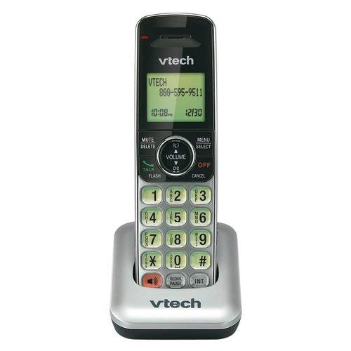 VTech CS6409 Accessory Cordless Handset, Silver/Black | Requires a VTech CS6419, CS6428, or CS6429 Series Expandable Phone System to Operate 2.4 Ghz Phone System