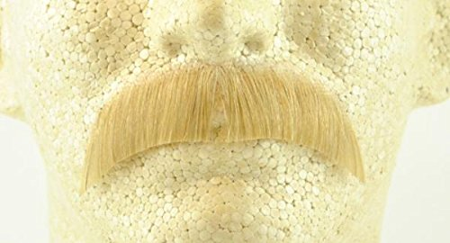 Basic Character Moustache BLONDE - 100% Human Hair - no. 2015 - REALISTIC!