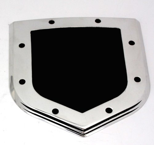 All Sales Ami 42502 Tailgate Emblem Emblem Shield Step Style Polished With Black Powdercoated Center