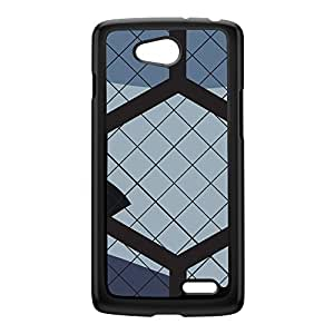Hex Camo Black Hard Plastic Case for LG L70 by Gadget Glamour + FREE Crystal Clear Screen Protector