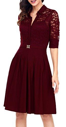 Angerella Retro Dresses Women Vintage Classy Bridesmaild 3/4