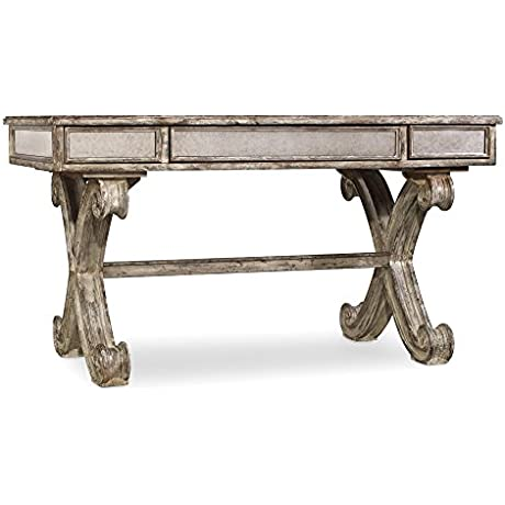Hooker Furniture Mirrored 54 Writing Desk In Weathered Gray