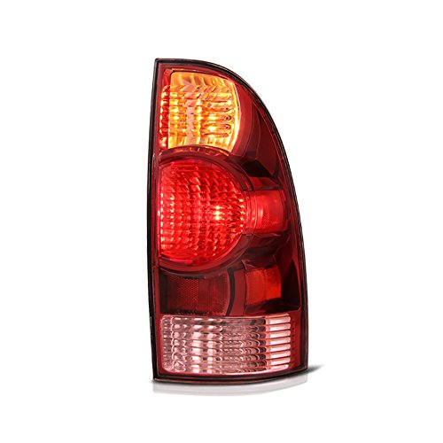 (VIPMOTOZ Red Lens OE-Style Tail Light Lamp Assembly For 2005-2008 Toyota Tacoma Pickup Truck, Passenger Side)