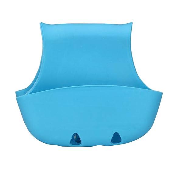 TM Double Sink Caddy Saddle Style Kitchen Organizer Storage Sponge Holder Rack Tool Matoen Blue