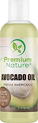 Avocado Oil Natural Carrier Oil - 4 oz Massage Oil Anti Aging Skin Care - for Skin Hair & Nails - Moisturizing Antioxidant - Prevents Aging Treats Dry Irritated & Acne Prone Skin Premium Nature