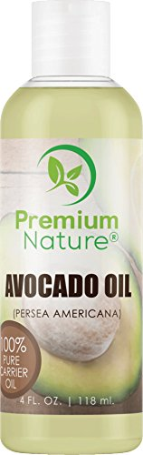 Avocado Oil Natural Carrier Oil - for Essential Oil Mixing, Massage Body Oil Moisturizer for Skin Hair & Nails, Pure Oil for Aromatherapy, Therapeutic Grade Anti Aging Skin Care 4 oz Premium Nature -