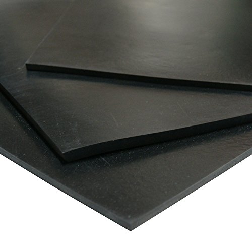 Silicone - Premium Grade Black - 60A - Rubber Sheet & Rubber Roll - 1/8'' Thick x 3ft Width x 8ft Length by Rubber-Cal