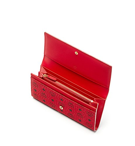 COLOR VISETOS TWO FOLD WALLET Wallet, Ruby Red, One Size (PRODUCT)RED