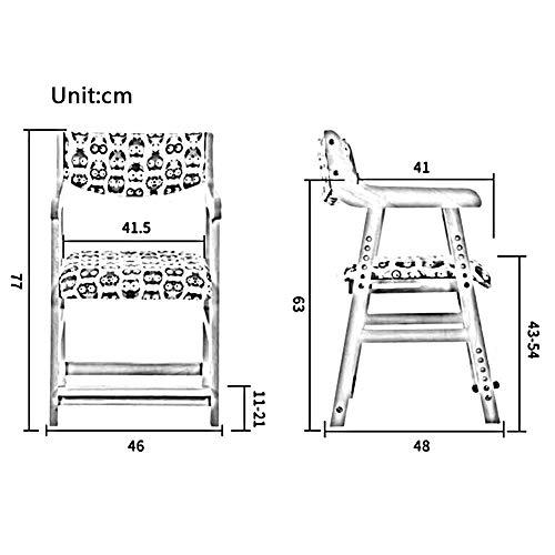 JIEER-C Fritidsstolar barn lärande stolar massivt trä matstol lyft typ säte hushåll student hållbar stark