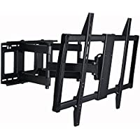 VideoSecu Articulating TV Mount Large Big Heavy Duty Swivel Tilt Wall Mount Bracket For most 60 62 65 70 75 78 80, Some Models up to 85 90 LED LCD Plasma TV- Dual Arm pulls out up to 25 1YE