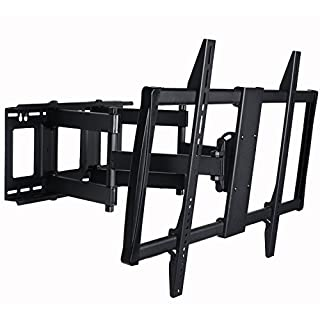 "VideoSecu Articulating TV Mount Large Big Heavy Duty Swivel Tilt Wall Mount Bracket for Most 60"" 62"" 65"" 70"" 75"" 78"" 80"", Some Models up to 85"" 90"" LED LCD Plasma TV- Dual Arm pulls Out up to 25"" 1YE (B001CDD55G) 