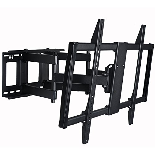 VideoSecu Articulating TV Mount Large Big Heavy Duty Swivel Tilt Wall Mount Bracket For most 60'' 62'' 65'' 70'' 75'' 78'' 80'', Some Models up to 85'' 90'' LED LCD Plasma TV- Dual Arm pulls out up to 25'' 1YE by VideoSecu