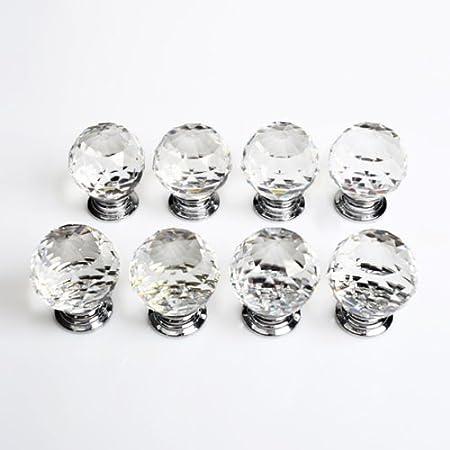 Revesun 8/piezas//mucho di/ámetro 30/mm verde cristal puerta de cristal Tiradores de armario de pomos armario asas pomos armario Home Hardware