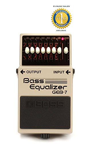 Boss Bass Equalizer (Boss GEB-7 7-Band Bass EQ Pedal with 1 Year Free Extended Warranty)