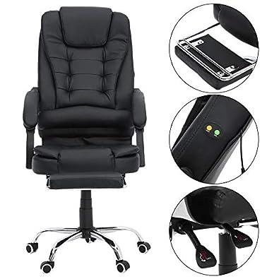 Newgrees Cómoda silla de oficina se acuesta Computer Gaming Chair Silla de Masaje Corporal: Amazon.es: Zapatos y complementos