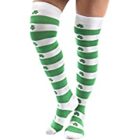 St. Patricks Day–Shamrock over the Knee calcetines, talla única , Verde