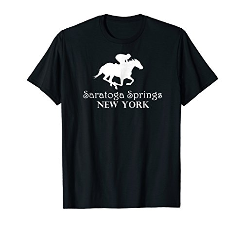 Saratoga Springs New York Horse Racing Jockey T-Shirt