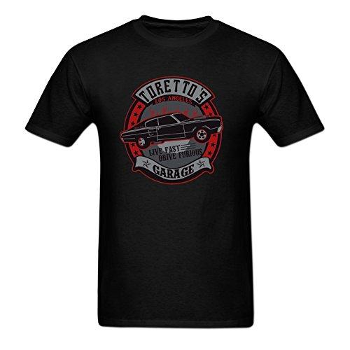 Price comparison product image Jamefoxfit Torettos Garage Poster Screw Neck T-shirt For Men XXXL Black