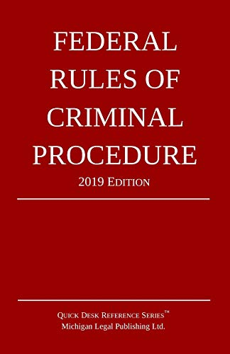 Pdf Law Federal Rules of Criminal Procedure; 2019 Edition