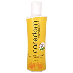 Caredom Herbal Pet Cat Shampoo – Sitaphal & Neem – Anti Ticks Shampoo – 200 ml
