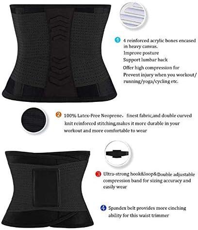 Waist Trainer Belt for Men Women Waist Cincher Trimmer Weight Loss Ab Belt Slimming Body Shaper Belt for Gym Sports