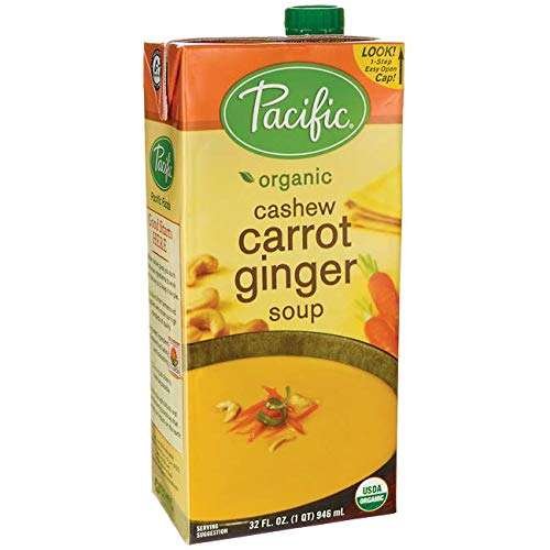 (Pacific Foods Organic Cashew Carrot Ginger Soup, 32 fl oz )